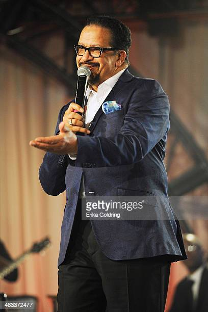 Richard Smallwood performs at BMI's 2014 Trailblazers of Gospel Music Awards Luncheon at Rocketown on January 17 2014 in Nashville Tennessee