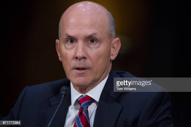 Richard Smith former CEO of Equifax testifies during a Senate Commerce Science and Transportation Committee hearing titled 'Protecting Consumers in...