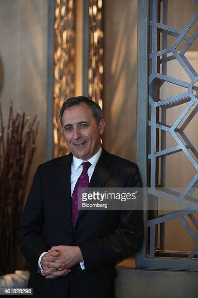 Richard Solomons chief executive officer of InterContinental Hotels Group Plc poses for a photograph following an interview at the InterContinental...