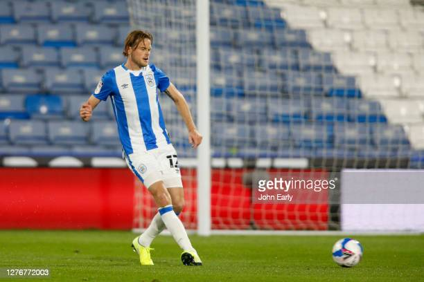 Richard Stearman of Huddersfield Town during the Sky Bet Championship match between Huddersfield Town and Nottingham Forest at John Smith's Stadium...