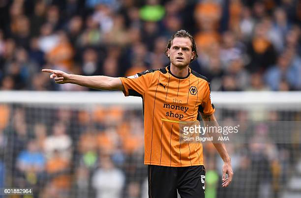 Richard Stearman of Wolverhampton Wanderers during the Sky Bet Championship match between Wolverhampton Wanderers and Burton Albion at Molineux on...