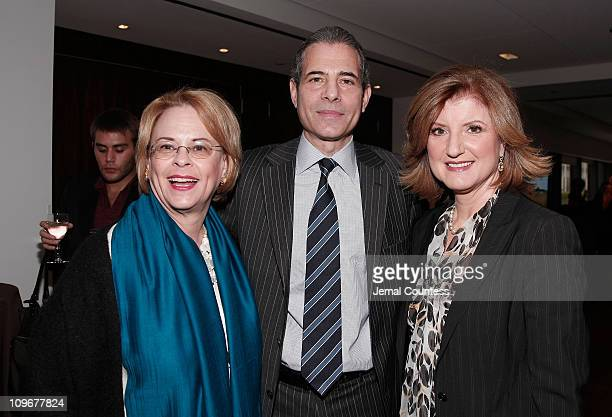 Richard Stengel Managing Editor of TIME Magazine with Ann Moore and Arianna Huffington at the Time Person of The Year Luncheon at the Time Life...