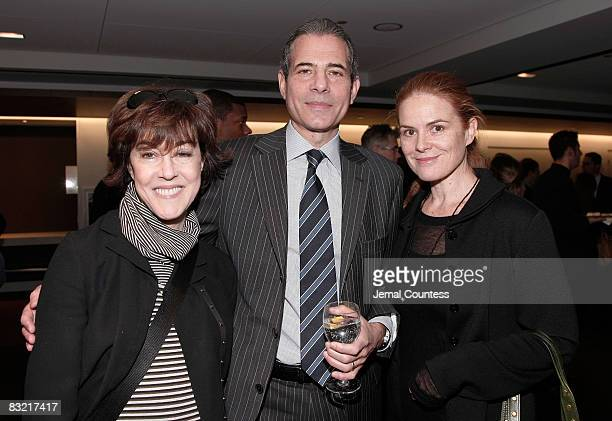 Richard Stengel Managing Editor of TIME Magazine with Author Norah Ephron and wife Mary Pfaff at the Time Person of The Year Luncheon at the Time...