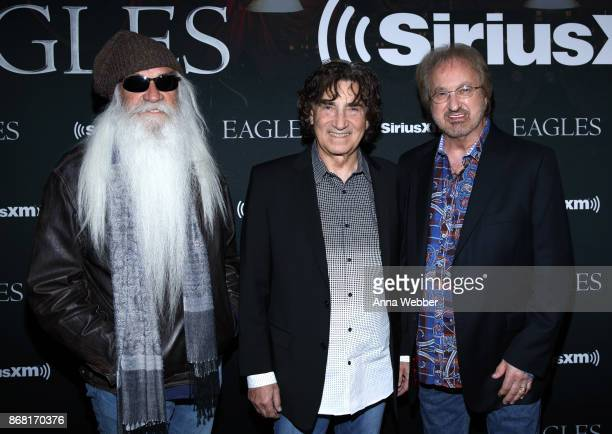 Richard Sterban William Lee Golden and Duane Allen of the Oak Ridge Boys attend SiriusXM presents the Eagles in their first ever concert at the Grand...