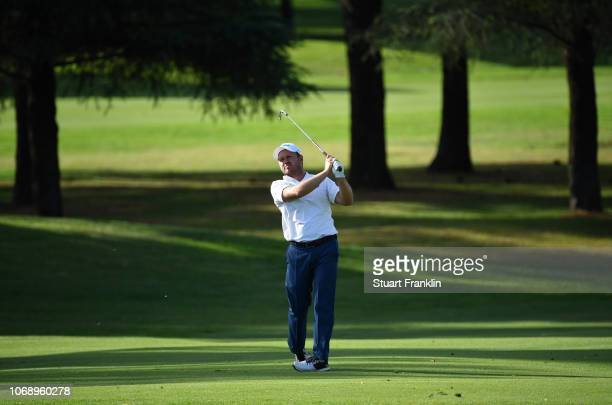 Richard Sterne of South Africa plays a shot from the fairway during day one of the South African Open at Randpark Golf Club on December 6 2018 in...