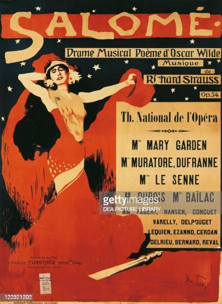 Richard Strauss , Salome, poster by Max Tilke, 1910.