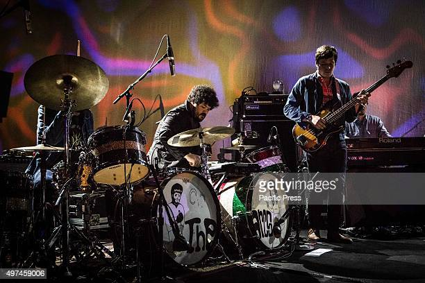 Richard Swift and Nick Movshon of the American Garage Rock Band The Arcs on stage as they perform during their live concert at Alcatraz
