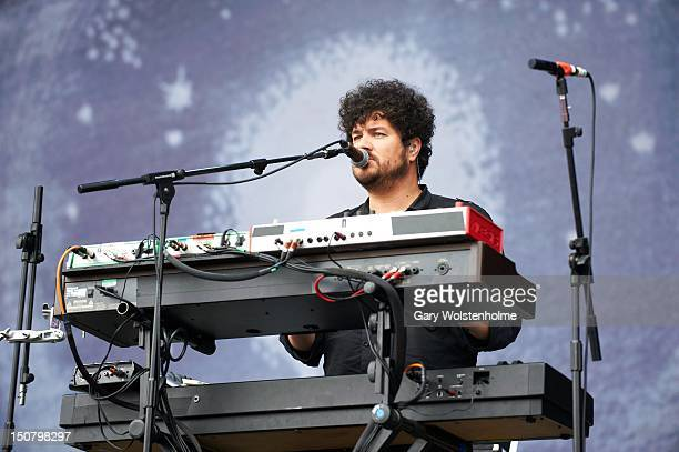 Richard Swift of The Shins performs on stage during the final day of Leeds Festival at Bramham Park on August 26 2012 in Leeds United Kingdom