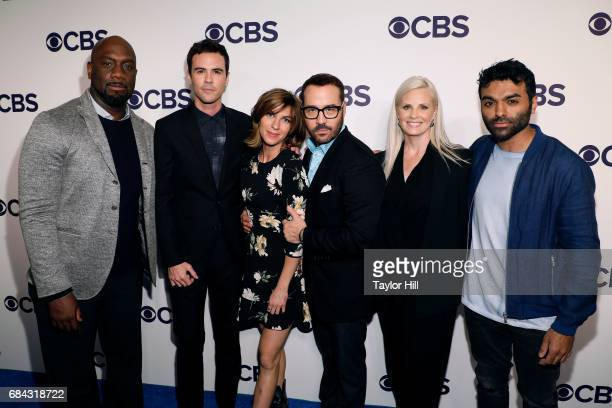 Richard T Jones Blake Lee Natalia Tena Jeremy Piven Monica Potter and Jake Matthews attend the 2017 CBS Upfront on May 17 2017 in New York City