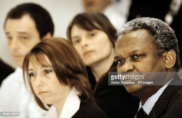 Richard Taylor the father of murdered schoolboy Damilola Taylor with Michael and Sara Payne parents of murdered schoolgirl Sarah and Denise Fergus...