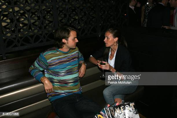 Richard Thayer and Katie Shelander attend QUEST MAGAZINE W2WWCOM hosts a soft launch of LAVO at 38 E 58th St on September 9 2010 in New York City
