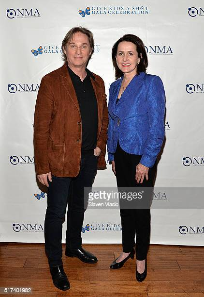 Richard Thomas and Carol Higgins Clark attend the preshow reception for annual 'Give Kids a Shot Gala Celebration' Broadway's support for The...