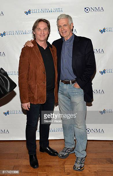 Richard Thomas and James Naughton attends the preshow reception for annual 'Give Kids a Shot Gala Celebration' Broadway's support for The National...