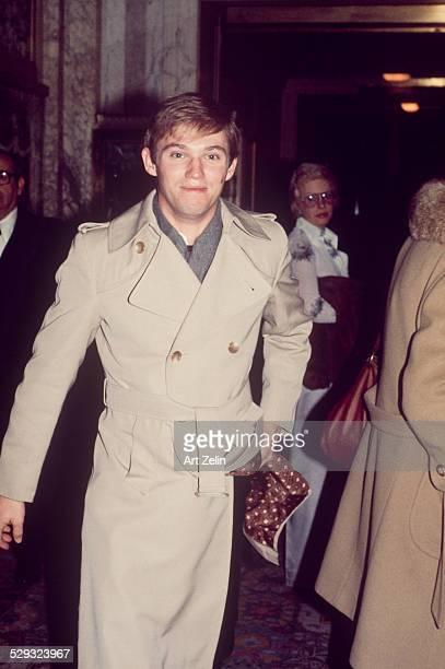Richard Thomas in a trench coat circa 1970 New York