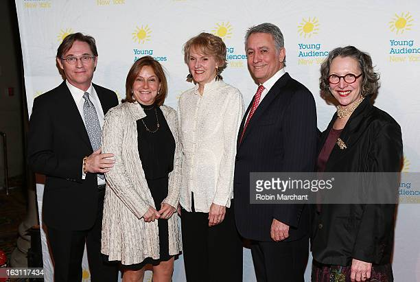 Richard Thomas Julie Kantrowitz Kim Greenberg Robert Riesemberg and BJ Adler attend the 2013 Children's Arts Award Benefit at Cipriani Wall Street on...