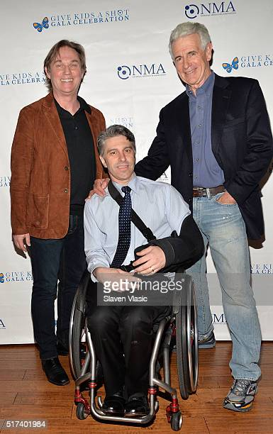 Richard Thomas Victor Calise and James Naughton attend the preshow reception for annual 'Give Kids a Shot Gala Celebration' Broadway's support for...