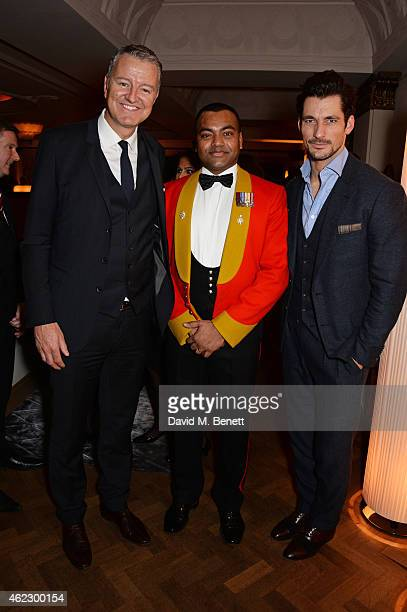 Richard Thompson Chairman of Debrett's People of Today Lance Corporal Johnson Beharry VC and David Gandy attend Debrett's 500 party hosted at The...