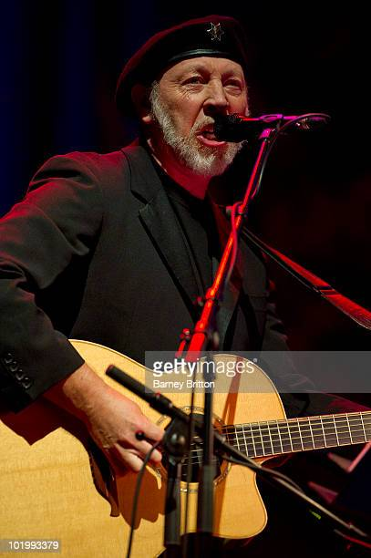 Richard Thompson performs on stage in Cabaret Of Souls as part of the Meltdown Festival at the Royal Festival Hall on June 11 2010 in London England
