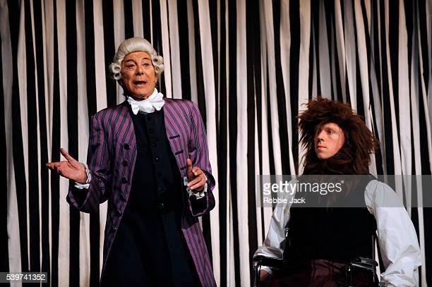 Richard Thomson as the Servants and Lionel Blair as Sir Peter Teazle in the Comediians Theatre Company's production of RB Sheridans play The School...