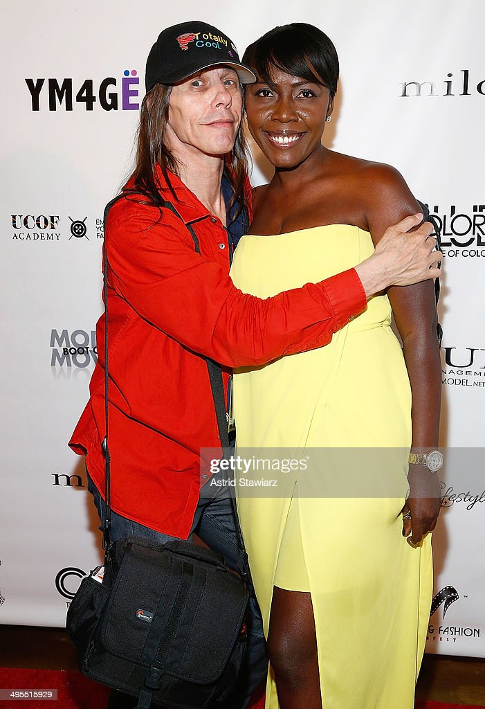 Richard 'Totally Cool' Renda and Herlande Moise attend the 2nd Annual Women & Fashion FilmFest Red Carpet Opening at Gold Bar on June 3, 2014 in New York City.