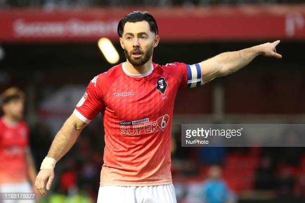 Richard Towell of Salford City FC during the Sky Bet League 2 match between Salford City and Northampton Town at Moor Lane Salford on Saturday 11th...