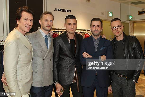 Richard Tremblay Erik Ulin Jessy Heuvelink Drew Wolfram and Marcus Ullmarker attend the J Lindeberg Art Of Elysium and GQ Host Event At Saks Fifth...