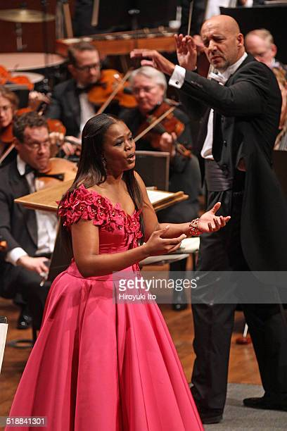 Richard Tucker Gala Concert at Avery Fisher Hall on Sunday night October 12 2014This imagePretty Yende performing an aria from Bellini's I puritani...