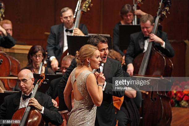 Richard Tucker Gala Concert at Avery Fisher Hall on Sunday night, October 12, 2014.This image:Ingeborg Gillebo, left, and Ildar Abdrazakov performing...