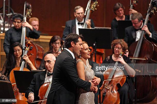 Richard Tucker Gala Concert at Avery Fisher Hall on Sunday night, October 12, 2014.This image:Ildar Abdrazakov, left, and Ingeborg Gillebo performing...
