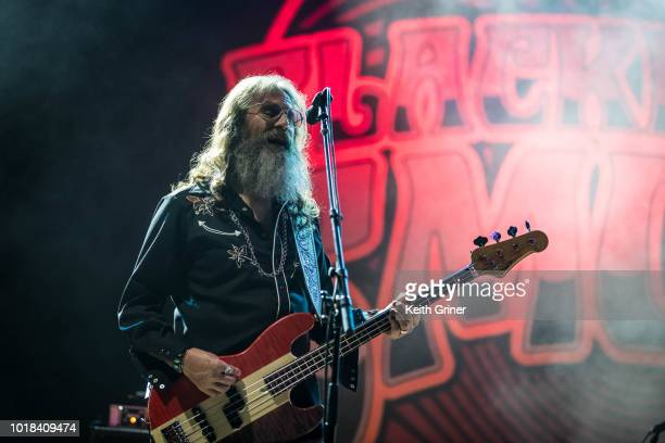 Richard Turner of Blackberry Smoke performs at The Lawn at White River State Park on August 12 2018 in Indianapolis Indiana
