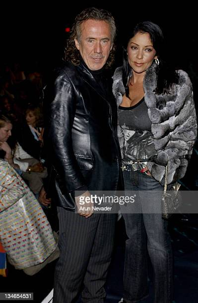 Richard Tyler and Apollonia Kotero during MercedesBenz Fall 2005 LA Fashion Week at Smashbox Studios Mason by Michelle Mason Front Row and Backstage...