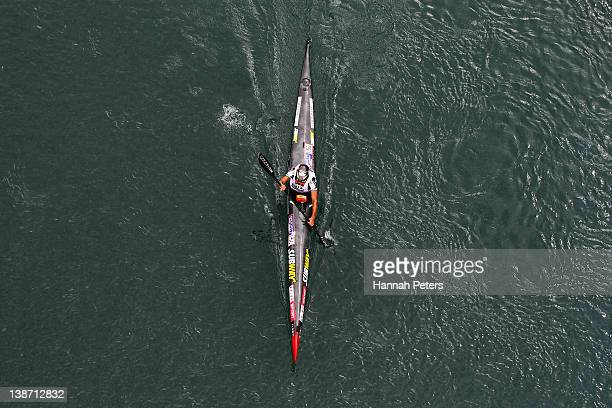 Richard Ussher of Nelson competes in the Individual One Day event during the 2012 Speights Coast to Coast on February 11 2012 in Greymouth New Zealand