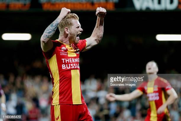 Richard van der Venne of Go Ahead Eagles celebrates during the Dutch Keuken Kampioen Divisie match between Go Ahead Eagles v Utrecht U23 at the De...
