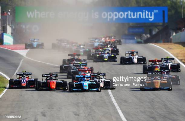 Richard Verschoor of the Netherlands and MP Motorsport , Matteo Nannini of Italy and Jenzer Motorsport , Alex Peroni of Australia and Campos Racing ,...