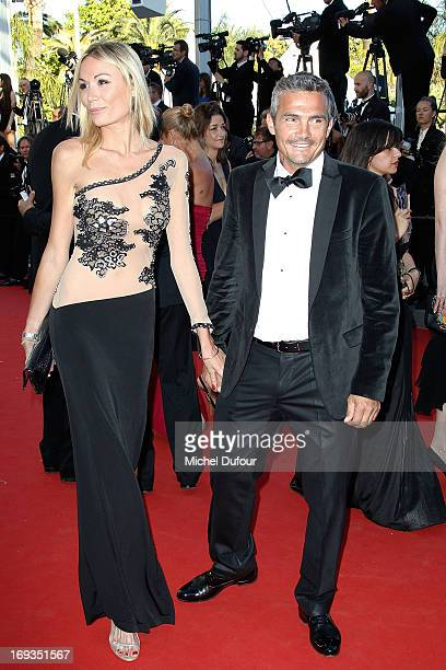 Richard Virenque and guest attend the 'Nebraska' premiere during The 66th Annual Cannes Film Festival at the Palais des Festiva on May 23 2013 in...