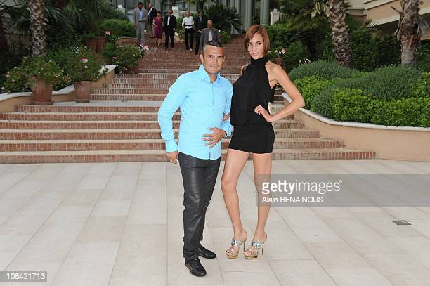 Richard Virenque and his girlfriend in Monte Carlo Monaco on July 03rd 2009