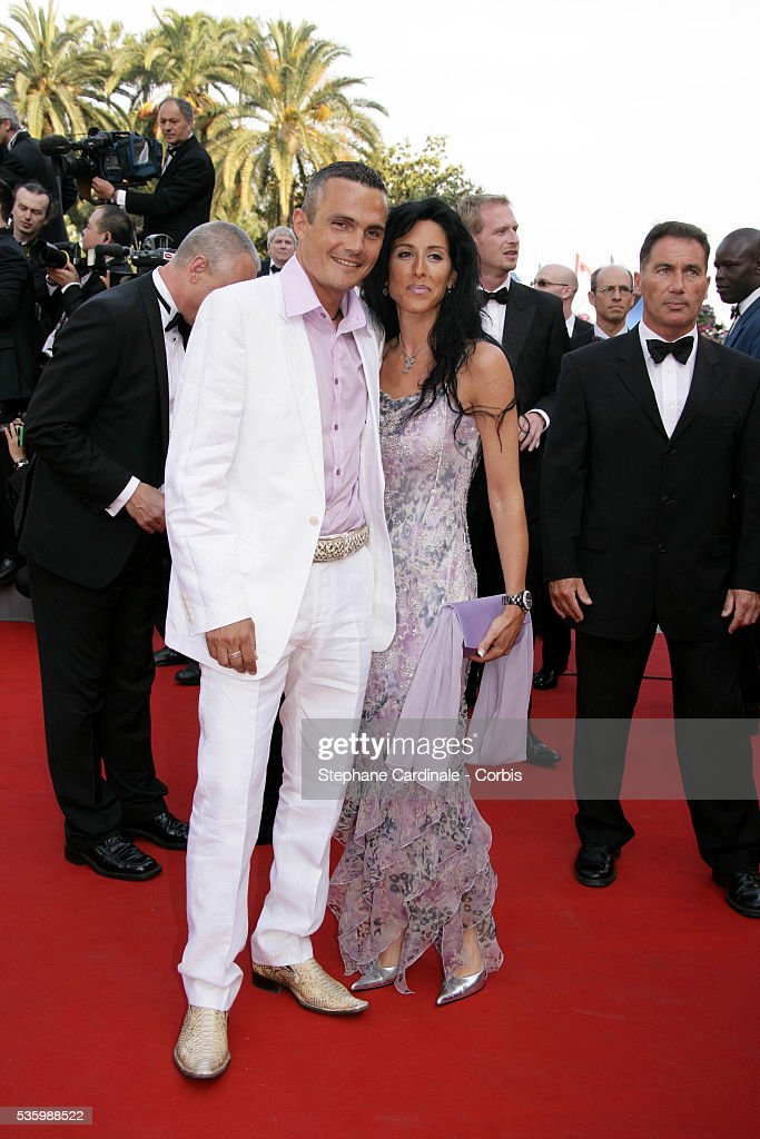 Richard Virenque and his wife at the premiere of 'The Da Vinci Code' during the 59th Cannes Film Festival.