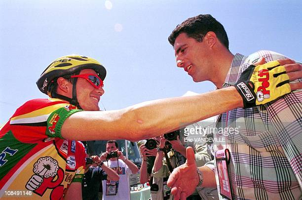 Richard Virenque and Miguel Indurain in Italia on May 15th 1999