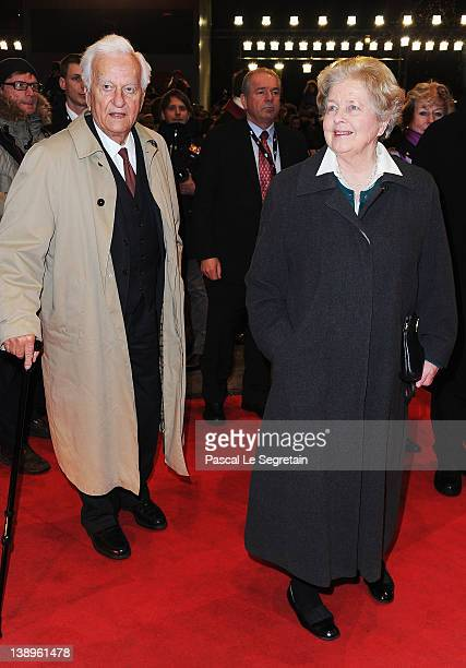 Richard von Weizsaecker and his wife Marianne attend The Iron Lady Premiere during day six of the 62nd Berlin International Film Festival at the...