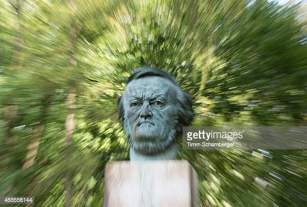 Richard Wagner figure by sculptor Arno Breker is displayed at Bayreuth Festival Theatre on August 12 2014 in Bayreuth Germany