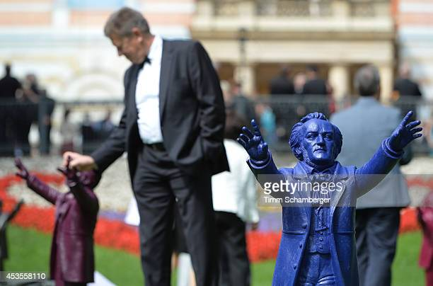 Richard Wagner figures are displayed at Bayreuth Festival Theatre on August 12, 2014 in Bayreuth, Germany.