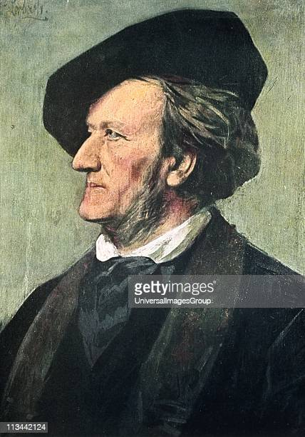 Richard Wagner German composer in 1882 After the portrait by Franz Seraph von Lenbach