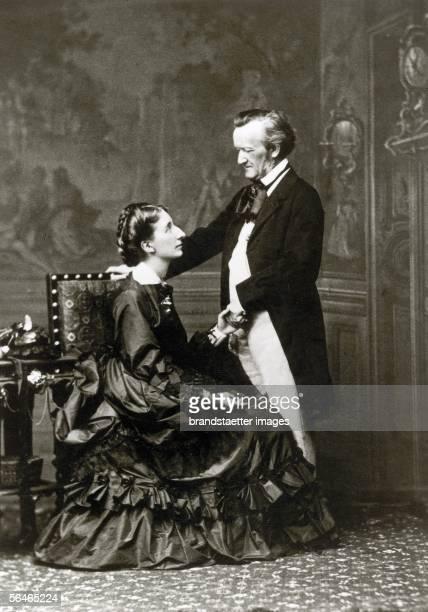 Richard Wagner with his wife Cosima circa 1875
