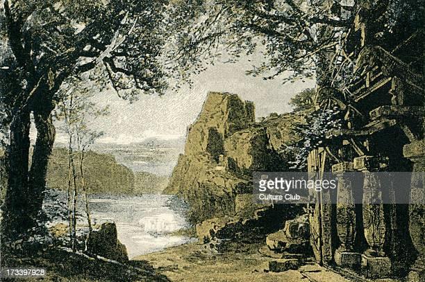 Richard Wagner's Götterdämmerung Act II sketch of scenery to the 'Ring des Nibelungen' Illustration by Heinrich Nisle