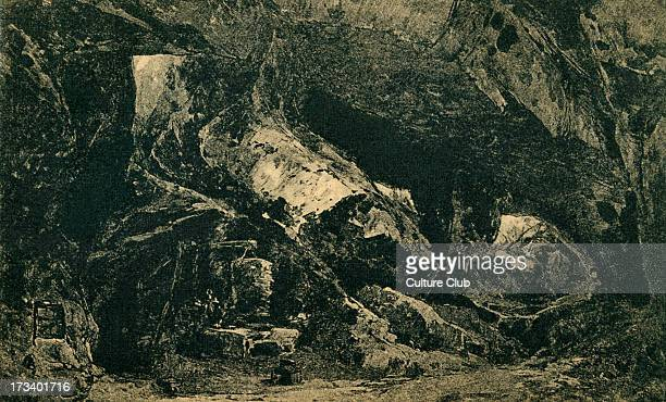 Richard Wagner's Siegfried Act I sketch of scenery to the 'Ring des Nibelungen' Illustration by Heinrich Nisle