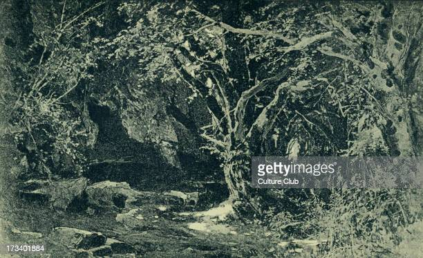 Richard Wagner's Siegfried Act II sketch of scenery to the 'Ring des Nibelungen' Illustration by Heinrich Nisle