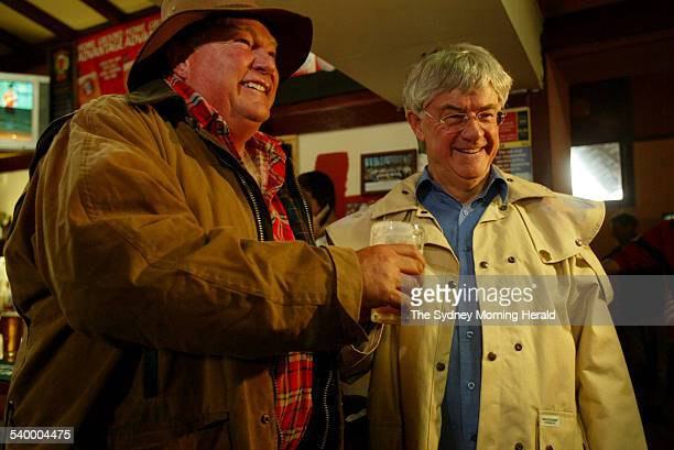 Richard Wallace the Mayor of the Snowy River Shire with the Roger Norton the Mayor of Cooma celebrate the announcement that the Snowy Mountain Hydro...