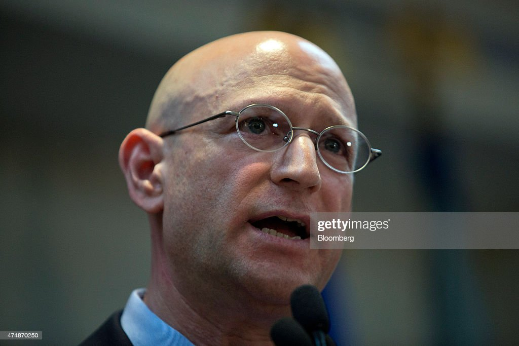 Richard Weber, chief of criminal investigation for the Internal Revenue Service (IRS), speaks during a news conference in the Brooklyn borough of New York, U.S., on Wednesday, May 27, 2015. The future of the World Cup has been called into question and soccer's governing body plunged into crisis after U.S. prosecutors charged nine officials with corruption and Switzerland probed upcoming tournaments awarded to Russia and Qatar. Photographer: Victor J. Blue/Bloomberg via Getty Images
