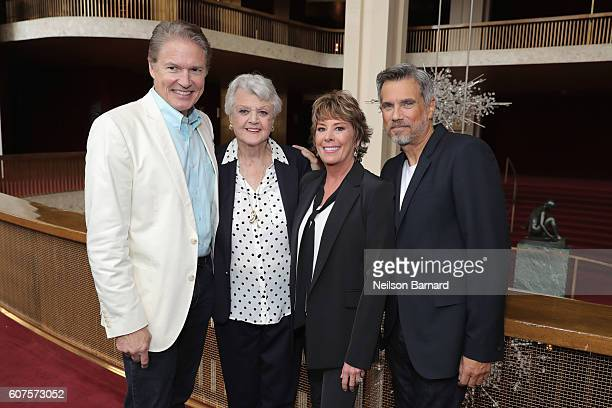 Richard White Angela Lansbury Paige O'Hara and Robbie Benson attend the special screening of Disney's 'Beauty and the Beast' to celebrate the 25th...