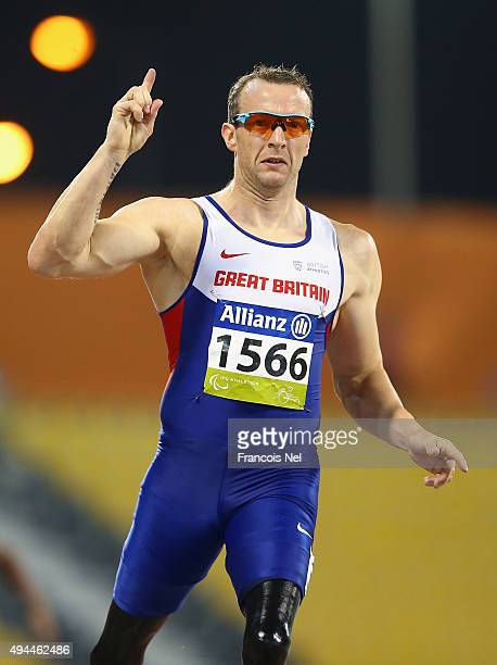 Richard Whitehead of Great Britain sets a new world record in the men's 200m T42 heats during the Evening Session on Day Six of the IPC Athletics...
